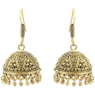 Antique Golden Jhumka Earring