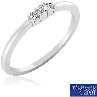 0.09ct Natural White Diamond Ring 925 Sterling Silver Diamond LR-0009