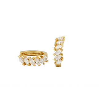 angel fashion sparkling alloy hoop earring for women
