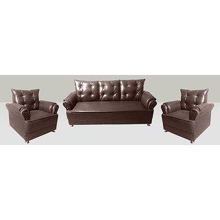 Sofa Set in Brown (3+1+ 1)