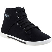 Clymb Mens Black Lace-up Sneakers