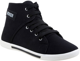 Black Lace-up Sneakers by Clymb