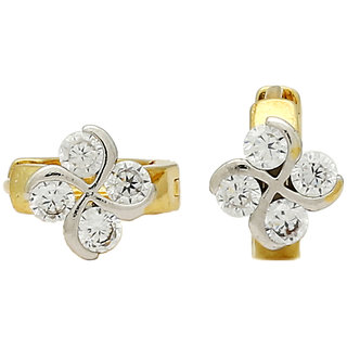 angel fashion sparkling alloy hoop earring for women