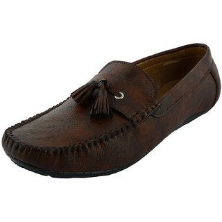 Okayy Brown Lace Repit Loafer For Men
