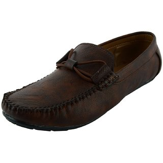 Okayy Brown Color Lace Loafer For Men