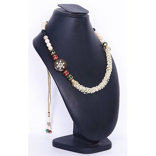 LSS Mother of pearl with onyx stone necklace