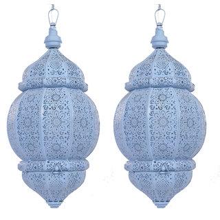 AnasaDcor Moroccan Hanging Voilet Lantern set2