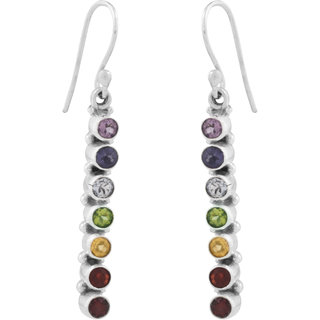 f8c12396235 Charka Seven Colour Stone Earrings By Silver Planets at Best Prices - Shopclues  Online Shopping Store