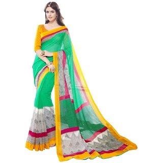 Fashion Super Net Saree Green Colour For WomenS