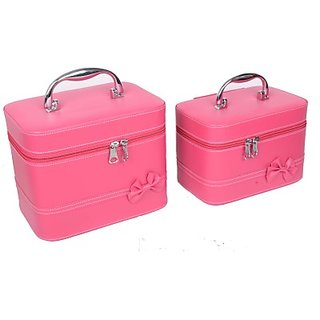 Styler Leather Look Combo Makeup Vanity Multi Purpose (Magenta Pink)