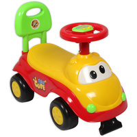 Ez Playmates Cute Car Kids Ride-On Yellow/Red