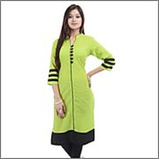 Green Floral print kurti