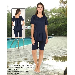 Buy Unique Ladies Swimming Costume Shorts Frock Style Plain