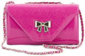 Voaka Womens Pink Bow Sling Bag