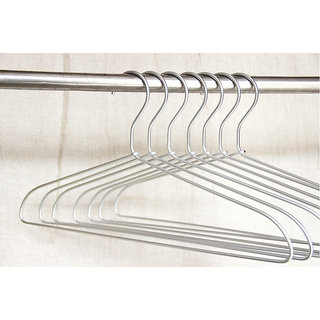 Silver Steel Cloth Hanger ( Set Of 24)