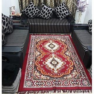Home Trendz Red Blended Carpet