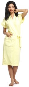 Imported 100 Turkish cotton Bathrobe SPA Gown (Lemon)