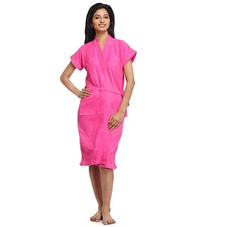 Imported 100 Turkish Bathrobe  Gown (D. Pink)