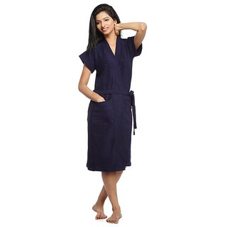 Buy Be You Sky Blue Two-Tone Cotton Women Bath Robe Online - Get 27% Off 0f758d817