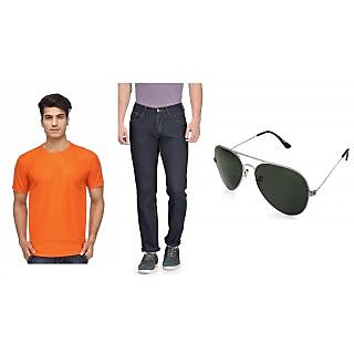 Rico Sordi Mens Combo of Jeans with T-shirt  Sunglass ( RSD1024BJRNT005)