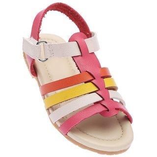 Early Smile Closed-Toe Pink Casual Booties for Baby Girls