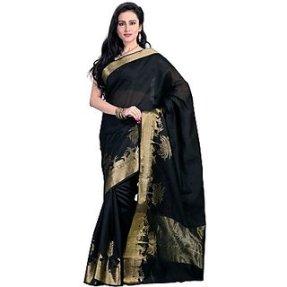 Neha Sarees Embellished Kanjivaram Cotton Sari