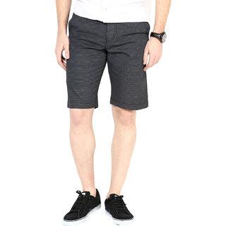 3Concept Grey Casual Shorts For Men