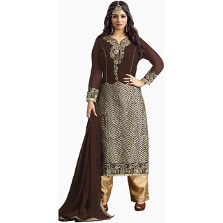 Womens Ethnic Pure Georgette Semi Stitched Suit