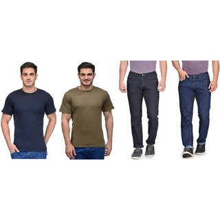 Rico Sordi Mens Jeans with 2 Cotton T-shirts ( RSD1100PO2 JeansRNT12RNT13)