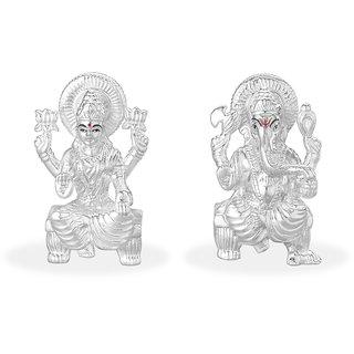 Taraash 999 Silver Combo Of Lord Laksmi And Ganeshji Idol GI1372HP+GI1371HP