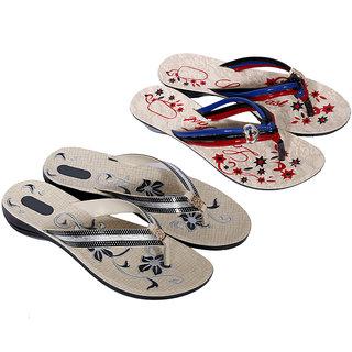 Krocs Super Comfortable  Flip flop For Women (Pack of 2 Pair)