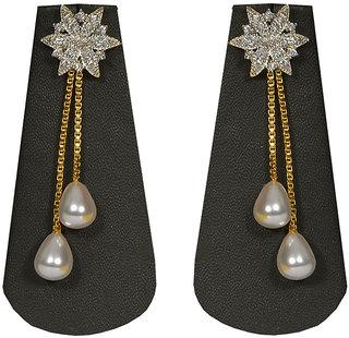 Pourni Pearl  American Diamond Earring - PRER07