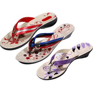 IndiWeaves Women's Multicolor Flip Flops