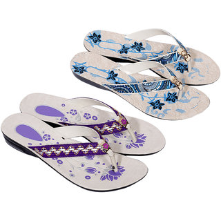 Krocs Super Comfortable Flip flop For Women (Pack of 2 Pair)