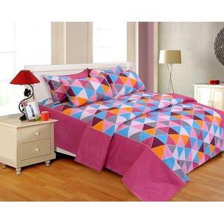 Salona Bichona Double Bedsheet with Two Pillow Covers
