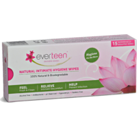 Everteen Natural Intimate Hygiene Wipes Individually Wrapped 15 Wipes