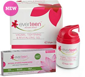 everteen Combo - Gel 30gm, Natural Intimate Wipes 15pcs