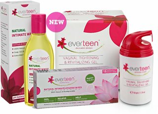 everteen Combo - Gel 50gm, Natural Intimate Wash 105ml, Natural Intimate Wipes 15pcs
