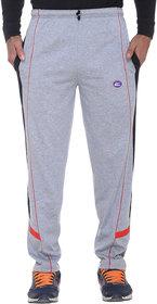 Vimal-Jonney Ultra Gray Melange Cotton Trackpants With Side Stripes-D7MELANGE