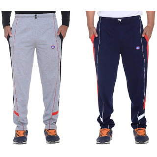 Vimal Grey And Navy Blue Mens Cotton Trackpants  Pack Of 2