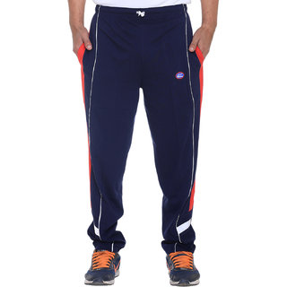 Vimal Ultra Gray Navy Cotton Trackpants With Side Stripes-D7NAVY