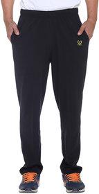 Vimal Premium Black Cotton Trackpants-D10BLACK