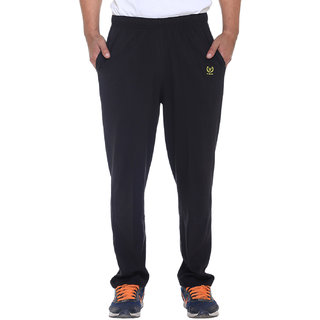 Vimal-Jonney Premium Black Cotton Trackpants-D10BLACK