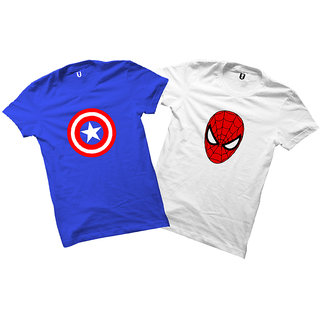 Uniplanet super heros  graphic t-shirts ( Pack of 2)