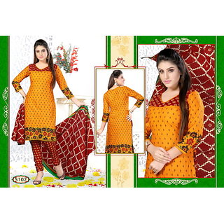 Womens Georgette unstitched Straight Salwar Suit dress material