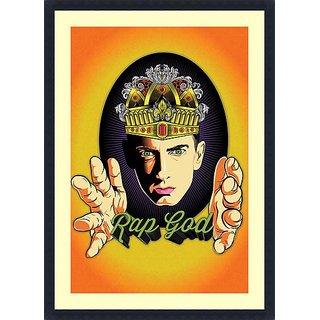 Rap God  Eminem - Framed Art Print 25 x 36