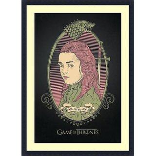 Arya  - Framed Art Print 25 x 36