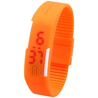 Elios Silicon LED Sports Band Watch  Orange