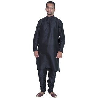 Arose Fashion  Black Silk Kurta Pajama Set