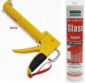 DOW CORNING Silicone Glass Glue Sealant 300 ml with GUN Applicator